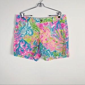LILLY PULITZER CORAL REEF PRINT SHORTS